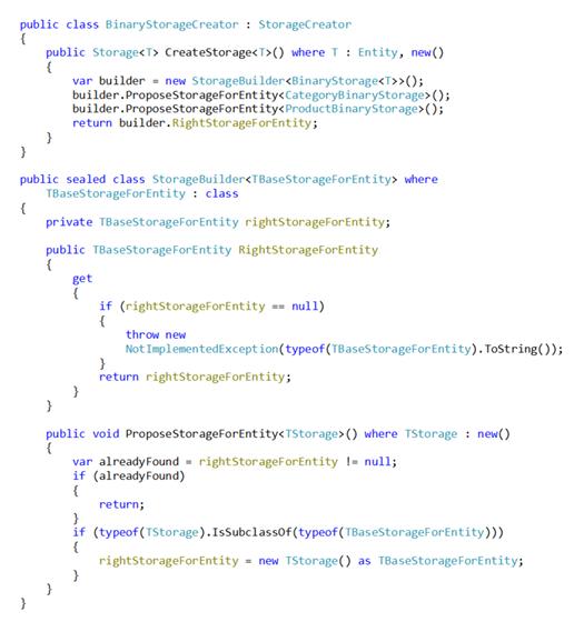 Poprawiona wersja klasy BinaryStorageCreator korzystająca z klasy StorageBuilder (kod C#)